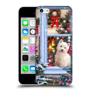 OFFICIAL THE MACNEIL STUDIO CHRISTMAS PETS Dog At Window Hard Back Case for Apple iPhone 5c (9_E_1D53F)
