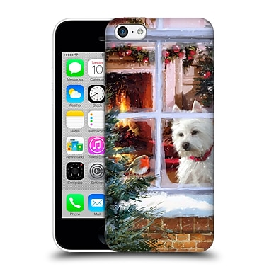 OFFICIAL THE MACNEIL STUDIO CHRISTMAS PETS Westie Watching Robin Hard Back Case for Apple iPhone 5c (9_E_1D546)