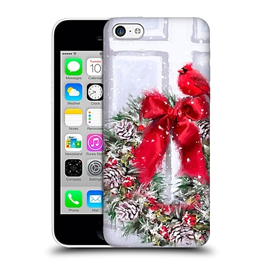 OFFICIAL THE MACNEIL STUDIO CHRISTMAS DECORS Cardinal On Wreath Hard Back Case for Apple iPhone 5c (9_E_1D530)