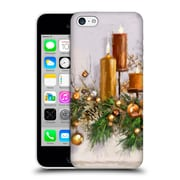 OFFICIAL THE MACNEIL STUDIO CHRISTMAS DECORS Gold Candles Hard Back Case for Apple iPhone 5c (9_E_1D533)
