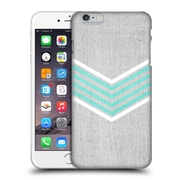 OFFICIAL TANGERINE-TANE TEXTURE & PATTERNS Teal & White Chevron Hard Back Case for Apple iPhone 6 Plus / 6s Plus (9_10_1E0AB)