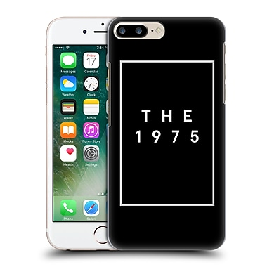 OFFICIAL THE 1975 KEY ART Logo Black Hard Back Case for Apple iPhone 7 Plus (9_1FA_1DB50)