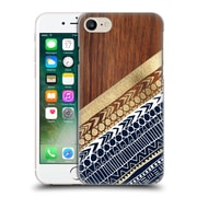 OFFICIAL TANGERINE-TANE TEXTURE & PATTERNS Navy & Gold Tribal On Wood Hard Back Case for Apple iPhone 7 (9_1F9_1E0A7)