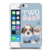 OFFICIAL STUDIO PETS QUOTES Two Cute Hard Back Case for Apple iPhone 5 / 5s / SE (9_D_1DF70)
