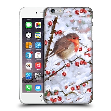 OFFICIAL THE MACNEIL STUDIO WINTER WONDERLAND Robin With Berries Hard Back Case for Apple iPhone 6 Plus / 6s Plus (9_10_1D564)