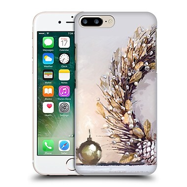 OFFICIAL THE MACNEIL STUDIO CHRISTMAS DECORS Gold Wreath Hard Back Case for Apple iPhone 7 Plus (9_1FA_1D534)
