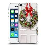 OFFICIAL THE MACNEIL STUDIO CHRISTMAS DECORS Wreath Hard Back Case for Apple iPhone 5 / 5s / SE (9_D_1D53C)