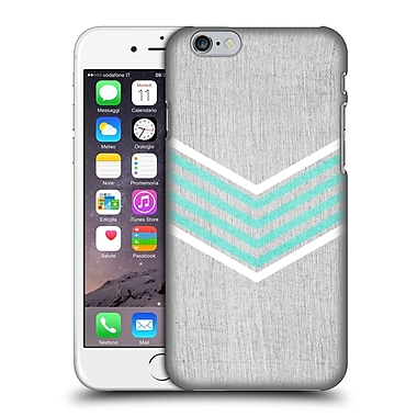 OFFICIAL TANGERINE-TANE TEXTURE & PATTERNS Teal & White Chevron Hard Back Case for Apple iPhone 6 / 6s (9_F_1E0AB)