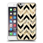 OFFICIAL TANGERINE-TANE TEXTURE & PATTERNS Black & Gold Glitter Chevron Hard Back Case for Apple iPhone 6 Plus / 6s Plus