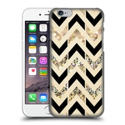 OFFICIAL TANGERINE-TANE TEXTURE & PATTERNS Black & Gold Glitter Chevron Hard Back Case for Apple iPhone 6 / 6s (9_F_1E09F)
