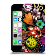 OFFICIAL SYLVIE DEMERS FLOWERS Eclosion Black Linen Hard Back Case for Apple iPhone 5c (9_E_1BAD1)