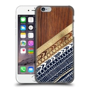 OFFICIAL TANGERINE-TANE TEXTURE & PATTERNS Navy & Gold Tribal On Wood Hard Back Case for Apple iPhone 6 / 6s (9_F_1E0A7)