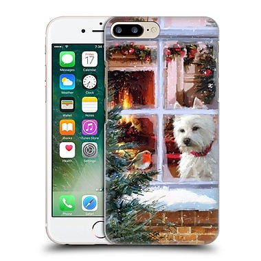 OFFICIAL THE MACNEIL STUDIO CHRISTMAS PETS Westie Watching Robin Hard Back Case for Apple iPhone 7 Plus (9_1FA_1D546)