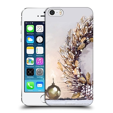OFFICIAL THE MACNEIL STUDIO CHRISTMAS DECORS Gold Wreath Hard Back Case for Apple iPhone 5 / 5s / SE (9_D_1D534)