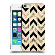 OFFICIAL TANGERINE-TANE TEXTURE & PATTERNS Black & Gold Glitter Chevron Hard Back Case for Apple iPhone 5 / 5s / SE (9_D_1E09F)