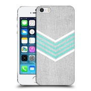 OFFICIAL TANGERINE-TANE TEXTURE & PATTERNS Teal & White Chevron Hard Back Case for Apple iPhone 5 / 5s / SE (9_D_1E0AB)