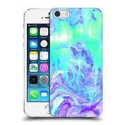 OFFICIAL TANGERINE-TANE TEXTURE & PATTERNS Melting Marble In Mint & Purple Hard Back Case for Apple iPhone 5 / 5s / SE