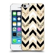OFFICIAL TANGERINE-TANE TEXTURE & PATTERNS Gold & White Glitter Chevron Hard Back Case for Apple iPhone 5 / 5s / SE (9_D_1E0A3)