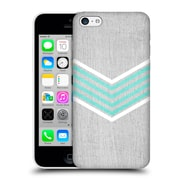 OFFICIAL TANGERINE-TANE TEXTURE & PATTERNS Teal & White Chevron Hard Back Case for Apple iPhone 5c (9_E_1E0AB)
