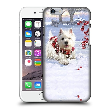 OFFICIAL THE MACNEIL STUDIO CHRISTMAS PETS Westie Fun Hard Back Case for Apple iPhone 6 / 6s (9_F_1D545)