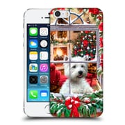 OFFICIAL THE MACNEIL STUDIO CHRISTMAS PETS Dog And Robin Hard Back Case for Apple iPhone 5 / 5s / SE (9_D_1D53E)