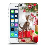 OFFICIAL THE MACNEIL STUDIO CHRISTMAS PETS Kitten With Ribbon Hard Back Case for Apple iPhone 5 / 5s / SE (9_D_1D542)