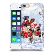 OFFICIAL THE MACNEIL STUDIO CHRISTMAS PETS Dogs Hard Back Case for Apple iPhone 5 / 5s / SE (9_D_1D547)