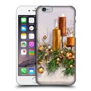 OFFICIAL THE MACNEIL STUDIO CHRISTMAS DECORS Gold Candles Hard Back Case for Apple iPhone 6 / 6s (9_F_1D533)