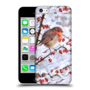 OFFICIAL THE MACNEIL STUDIO WINTER WONDERLAND Robin With Berries Hard Back Case for Apple iPhone 5c (9_E_1D564)