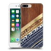 OFFICIAL TANGERINE-TANE TEXTURE & PATTERNS Navy & Gold Tribal On Wood Hard Back Case for Apple iPhone 7 Plus (9_1FA_1E0A7)