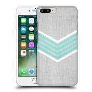 OFFICIAL TANGERINE-TANE TEXTURE & PATTERNS Teal & White Chevron Hard Back Case for Apple iPhone 7 Plus (9_1FA_1E0AB)
