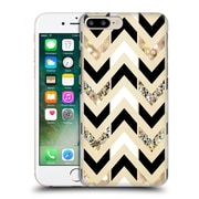 OFFICIAL TANGERINE-TANE TEXTURE & PATTERNS Gold & White Glitter Chevron Hard Back Case for Apple iPhone 7 Plus (9_1FA_1E0A3)