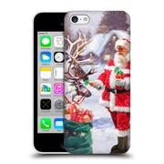 OFFICIAL THE MACNEIL STUDIO SANTA CLAUS Feeding Reindeer Hard Back Case for Apple iPhone 5c (9_E_1D554)