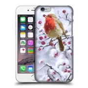 OFFICIAL THE MACNEIL STUDIO WINTER WONDERLAND Robin On Hawthorn Hard Back Case for Apple iPhone 6 / 6s (9_F_1D562)