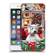 OFFICIAL THE MACNEIL STUDIO CHRISTMAS PETS Dog And Robin Hard Back Case for Apple iPhone 6 Plus / 6s Plus (9_10_1D53E)