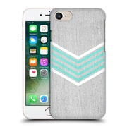 OFFICIAL TANGERINE-TANE TEXTURE & PATTERNS Teal & White Chevron Hard Back Case for Apple iPhone 7 (9_1F9_1E0AB)