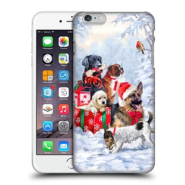 OFFICIAL THE MACNEIL STUDIO CHRISTMAS PETS Dogs Hard Back Case for Apple iPhone 6 Plus / 6s Plus (9_10_1D547)