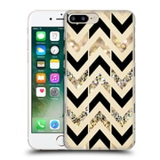 OFFICIAL TANGERINE-TANE TEXTURE & PATTERNS Black & Gold Glitter Chevron Hard Back Case for Apple iPhone 7 Plus (9_1FA_1E09F)