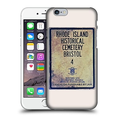 OFFICIAL SPIRES TYPOGRAPHY Rhode Island Historical Cemetery Bristol Hard Back Case for Apple iPhone 6 / 6s (9_F_1D9AA)