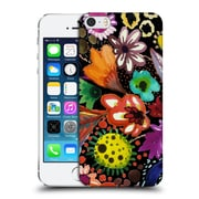 OFFICIAL SYLVIE DEMERS FLOWERS Eclosion Black Linen Hard Back Case for Apple iPhone 5 / 5s / SE (9_D_1BAD1)
