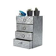 Mind Reader Iron Drawer Organizer, Silver (I4DR-SIL)