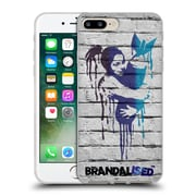 OFFICIAL BRANDALISED BANKSY DRIPS Love The Bomb Soft Gel Case for Apple iPhone 7 Plus (C_1FA_18E04)