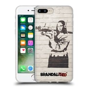 OFFICIAL BRANDALISED BANKSY GRAFFITI Mona Launcher Soft Gel Case for Apple iPhone 7 Plus (C_1FA_18DCF)