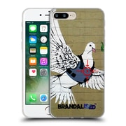 OFFICIAL BRANDALISED BANKSY GRAFFITI Bulletproof Dove Soft Gel Case for Apple iPhone 7 Plus (C_1FA_18DD7)
