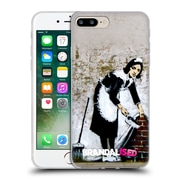 OFFICIAL BRANDALISED BANKSY GRAFFITI Camden Maid Soft Gel Case for Apple iPhone 7 Plus (C_1FA_18DD8)