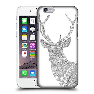 OFFICIAL FLORENT BODART ANIMAL LINES Stag White Hard Back Case for Apple iPhone 6 / 6s (9_F_1AF7D)