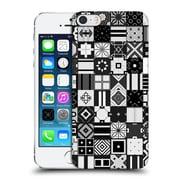 OFFICIAL GIULIO ROSSI PATCHWORK Black & White Hard Back Case for Apple iPhone 5 / 5s / SE (9_D_1D8D4)