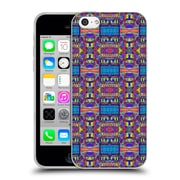 OFFICIAL AMY SIA TRIBAL Patchwork Blue Soft Gel Case for Apple iPhone 5c (C_E_1AB70)