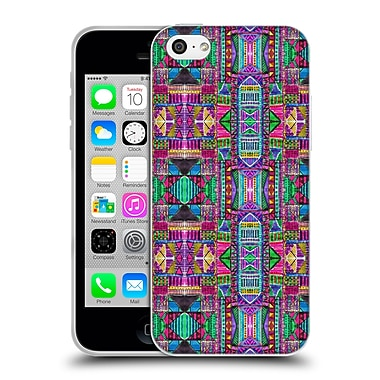 OFFICIAL AMY SIA TRIBAL Patchwork Pink Soft Gel Case for Apple iPhone 5c (C_E_1AB72)