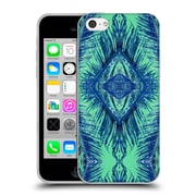 OFFICIAL AMY SIA TROPICAL Palm Blue Green Soft Gel Case for Apple iPhone 5c (C_E_1AB75)